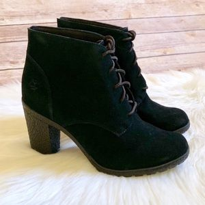 NIB Timberland Tilston black suede ankle boots